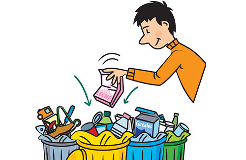 materiales de reciclaje